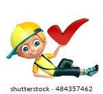 3d rendered illustration of kid ... | Shutterstock . vector #484357462