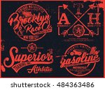 vintage t shirt graphic | Shutterstock .eps vector #484363486