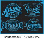 vintage t shirt graphic | Shutterstock .eps vector #484363492