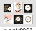 set of perfect wedding abstract ... | Shutterstock .eps vector #484365922