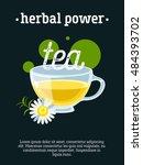 herbal power   blackboard...   Shutterstock .eps vector #484393702