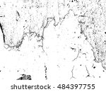 black and white wood texture or ... | Shutterstock .eps vector #484397755