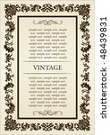 gothic frame decorative. vector ... | Shutterstock .eps vector #48439831