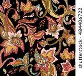 seamless paisley pattern.... | Shutterstock . vector #484406722