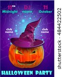 halloween party poster... | Shutterstock .eps vector #484422502