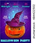 halloween party poster... | Shutterstock .eps vector #484422502