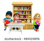 3d rendered illustration of kid ... | Shutterstock . vector #484424896