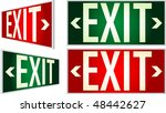 Vector Exit Signs With Light