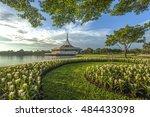 suanluang rama ix public park... | Shutterstock . vector #484433098