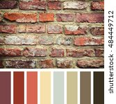 old red brick wall  in a colour ... | Shutterstock . vector #484449712