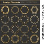 gold frame vector set  gold... | Shutterstock .eps vector #484450426