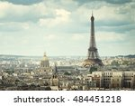 view on eiffel tower  paris ... | Shutterstock . vector #484451218