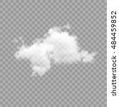cloud on transparent background.... | Shutterstock .eps vector #484459852