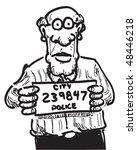 cartoon of a man who has been... | Shutterstock .eps vector #48446218