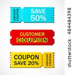 coupon sale  offers and... | Shutterstock .eps vector #484484398