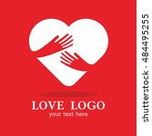 hand love hug heart red... | Shutterstock .eps vector #484495255