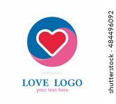 circle love color red blue...   Shutterstock .eps vector #484496092