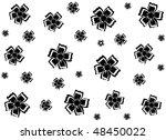 black flowers on a white...   Shutterstock .eps vector #48450022