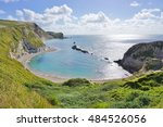 the english jurassic coast in... | Shutterstock . vector #484526056