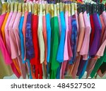 the secondhand clothes in the... | Shutterstock . vector #484527502