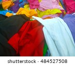 the secondhand clothes in the... | Shutterstock . vector #484527508