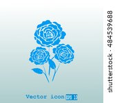 rose vector icon | Shutterstock .eps vector #484539688