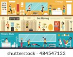 energy get moving fitness club... | Shutterstock .eps vector #484547122