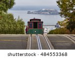 a view of a cable car in san... | Shutterstock . vector #484553368