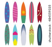 surfboards isolated on white... | Shutterstock .eps vector #484559335