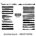 grunge edges set   isolated... | Shutterstock .eps vector #484576906