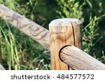 the wooden balustrade  in the... | Shutterstock . vector #484577572