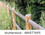 the wooden balustrade  in the... | Shutterstock . vector #484577695