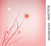 soft red floral design | Shutterstock .eps vector #48457978