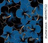 seamless pattern of stylized... | Shutterstock . vector #484590712