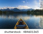 boat on the dock surrounded... | Shutterstock . vector #484601365