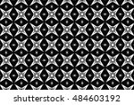 ornament with elements of black ... | Shutterstock . vector #484603192