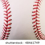 closeup of new baseball with... | Shutterstock . vector #48461749