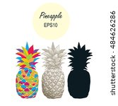 hand drawn set vector... | Shutterstock .eps vector #484626286