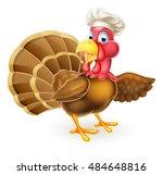 cartoon thanksgiving or... | Shutterstock .eps vector #484648816