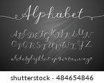 vector handwritten lettering... | Shutterstock .eps vector #484654846