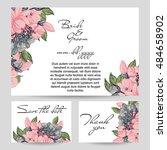 vintage delicate invitation...   Shutterstock .eps vector #484658902