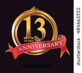 13 years golden anniversary...   Shutterstock .eps vector #484663552