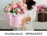 Woman Florist Making A Lovely...