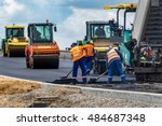 close view on the workers and...   Shutterstock . vector #484687348