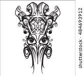decorative elements in vintage... | Shutterstock .eps vector #484693912