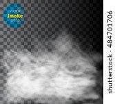 fog or smoke isolated... | Shutterstock .eps vector #484701706