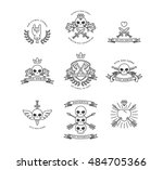 hipster style simple badges... | Shutterstock .eps vector #484705366