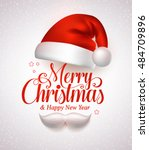 merry christmas title... | Shutterstock .eps vector #484709896