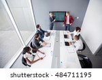 director of multiethnic company ... | Shutterstock . vector #484711195