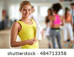 portrait of young blond woman... | Shutterstock . vector #484713358